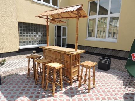 bambusbar 5tlg 160x230x60 cm dark 4 stools counter bar restaurant bar bamboo ebay. Black Bedroom Furniture Sets. Home Design Ideas